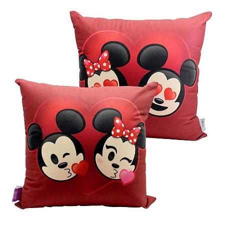 Almofada Veludo Mickey e Minnie Emoji - Zona Criativa