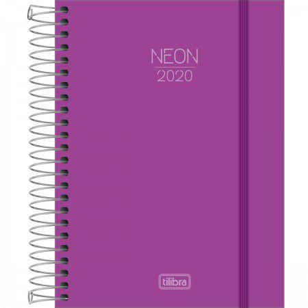 Agenda Espiral Neon Roxo 2020 - Tilibra