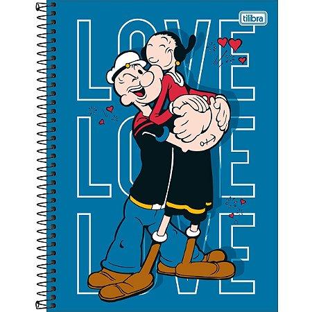 Caderno Universitário Popeye 10 Matérias - Tilibra