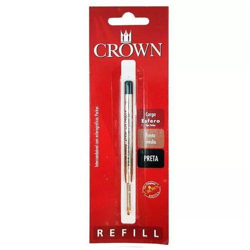 Carga Esferográfica Preto Parker-Crown
