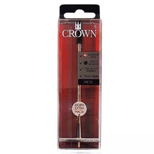 Refil Esferografico Cross Preto - Crown