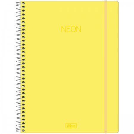 Caderno Universitário Neon Amarelo 10 Matéria - Tilibra