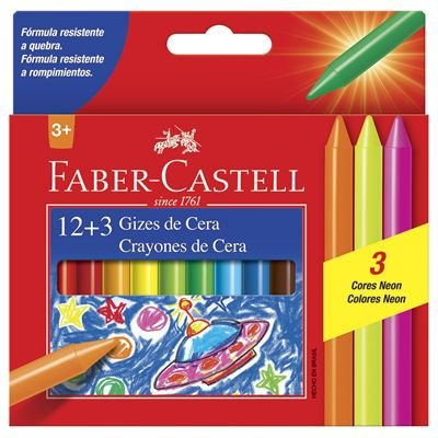 Giz De Cera 15 Cores - Faber-Castell
