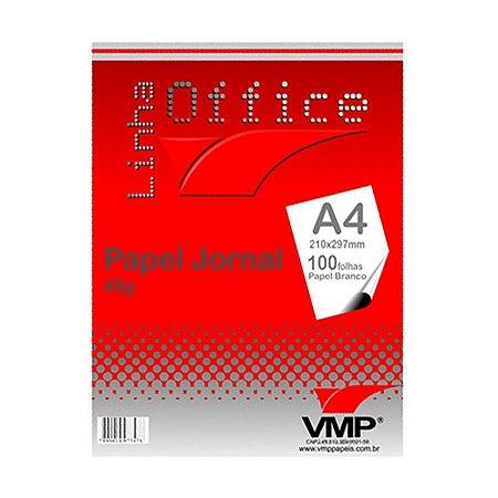 Papel Jornal A-4 210x297 100fl Branco