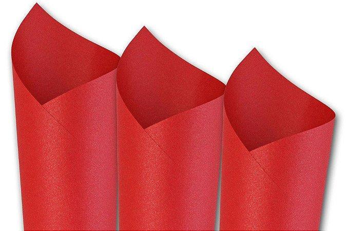 Papel Metalizado Vermelho A4 150g 15 Fls - Off Paper