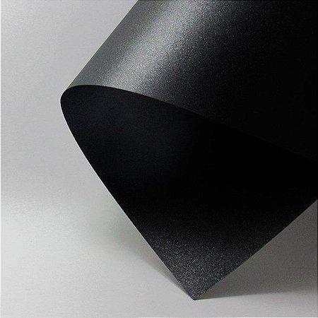 Papel Metalizado Preto A4 150g 15 Fls