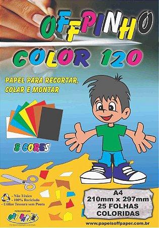 Papel Offpinho Colorido Sortido 120g A4 25 FLS - Off Paper