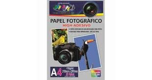 Papel Fotográfico Adesivo A4 135g 20 Folhas - Off Paper