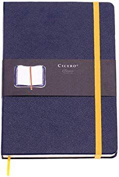 Caderneta Pautada Clássica Azul Marinho - Cicero