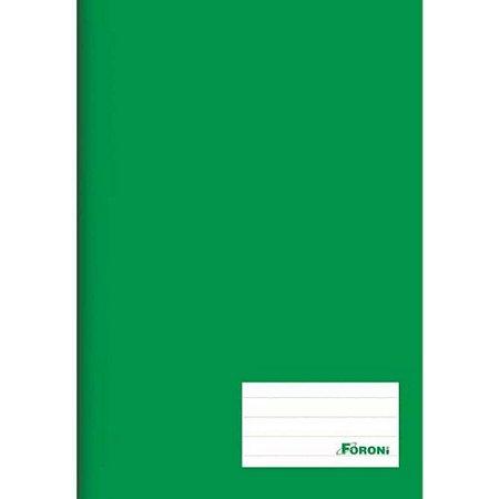 Caderno Brochura 1/4 Verde 48 Fls - Foroni