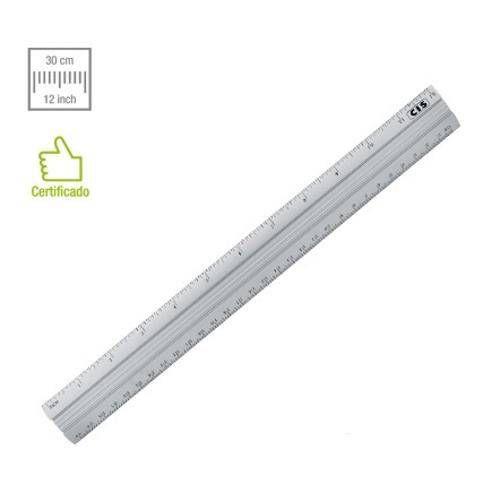 Regua De Aluminio 30cm - Cis