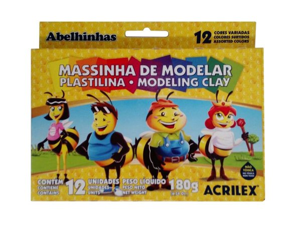 Massinha De Modelar 12 Cores - Acrilex