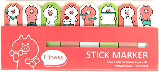 Bloco Adesivo  Porquinho - Stick Marker