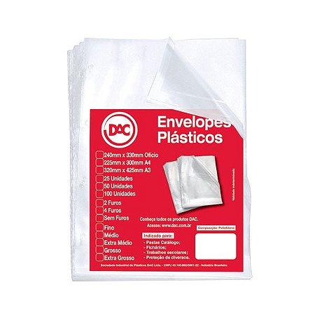 Envelopes Plásticos Médio 4 Furos - Dac