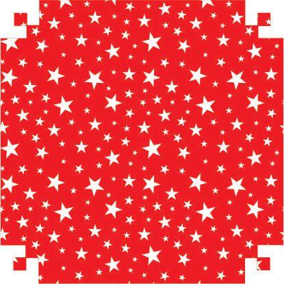 Colorset Estrelas/Vermelho 48x66 - VMP