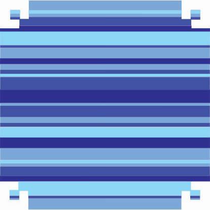 Colorset Listrado Azul 48x66 - VMP
