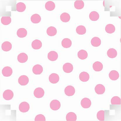 Colorset  Branco C/ Bolinha Rosa 48x66 - Vmp