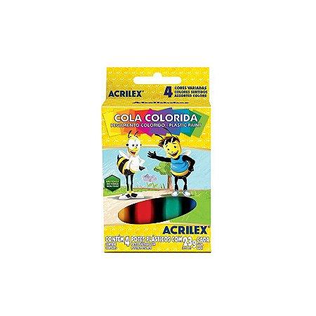 Cola Colorida 23g 4 Cores - Acrilex