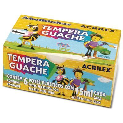 Tinta Guache 15ml 6 Cores - Acrilex