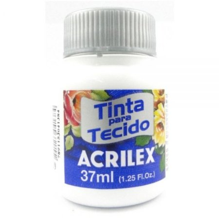 Tinta Tecido Fosca Branco 37ml  - Acrilex