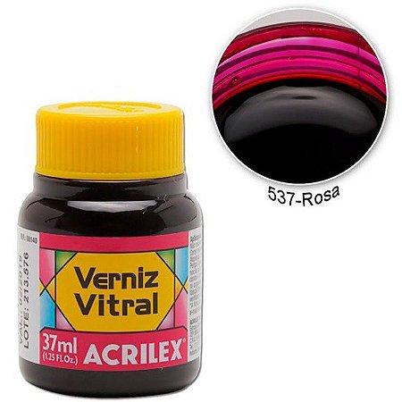 Verniz Vitral 37ml Rosa - Acrilex