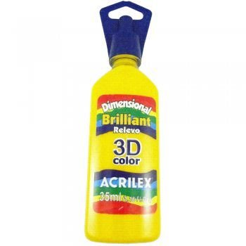 Tinta Relevo Dimensional Amarelo Ouro 35 ml  - Acrilex