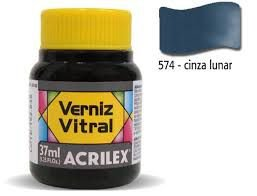 Verniz Vitral 37ml Cinza Lunar - Acrilex