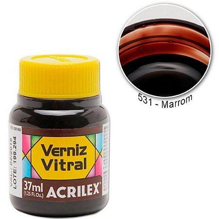 Verniz Vitral 37ml Marrom - Acrilex