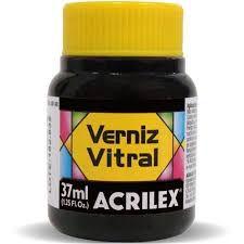 Verniz Vitral Preto 37ml - Acrilex