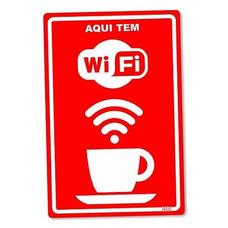 Placa Decorativa Aqui Tem Wi-Fi - Beek