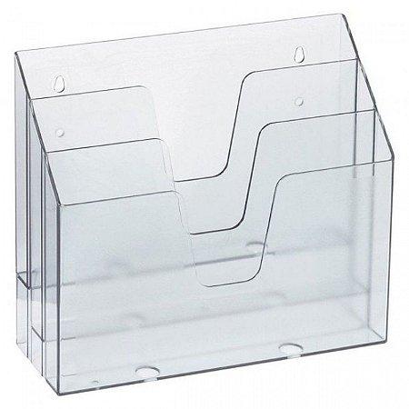 Organizador Triplo Office Cristal - Waleu