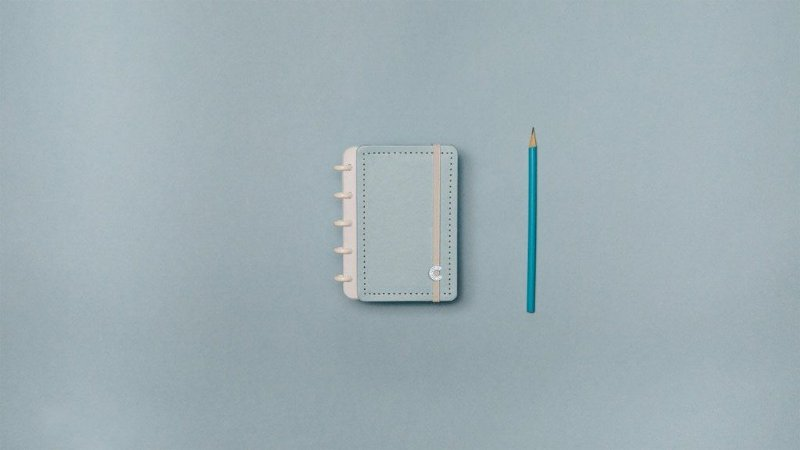 Caderno Azul Pastel Inteligine - Caderno Inteligente