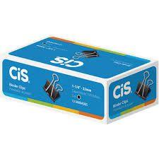 Prendedor De Papel Cis 32mm Preto Cx.C/12 - Cis