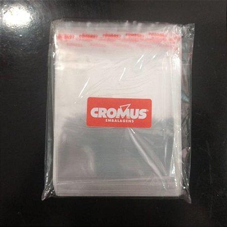 Saco Adesivado Transparente Com Furo 22x30 - Cromus