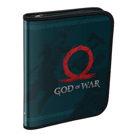 Caderno Argolado Univ God Of War C/48f - Dac