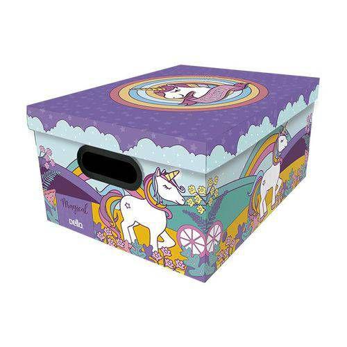 Caixa Organizadora Média Kids Unicornio - Dello