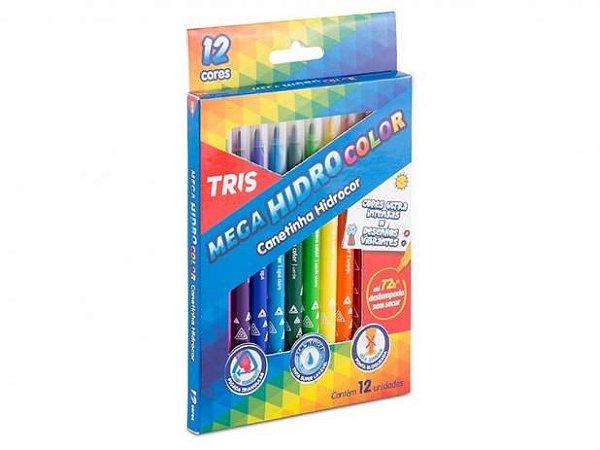 Hidrocor Pj Tris Mega Hidro Color Jumbo 6 Cores Cjto