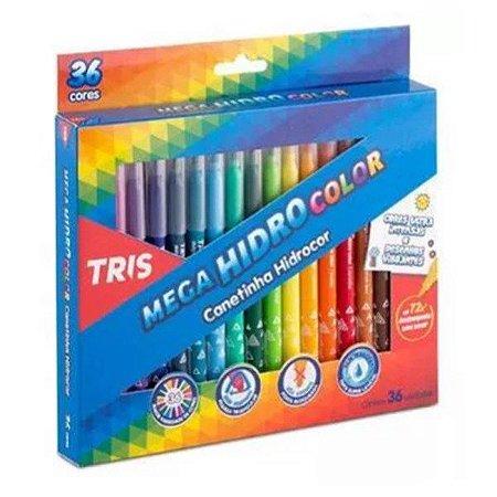 Hidrocor Pj Tris Mega Hidro Color Jumbo 12 Cores Cjto
