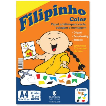 Bloco Filipinho Color A4 85g - Filiperson