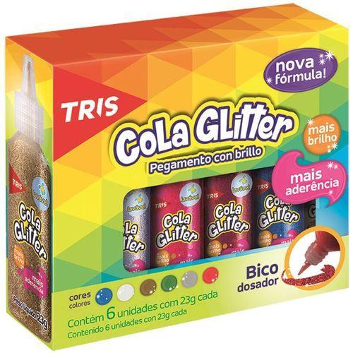 Cola Glitter Vermelho - Tris