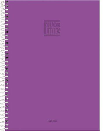 Caderno Universitário Fluor Roxo 1M - Foroni