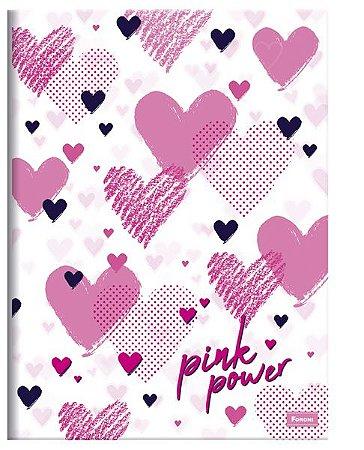 Caderno Brochura Pink Power 96 F - Foroni