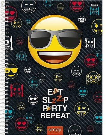 Caderno Emoji Love 10 M - Foroni