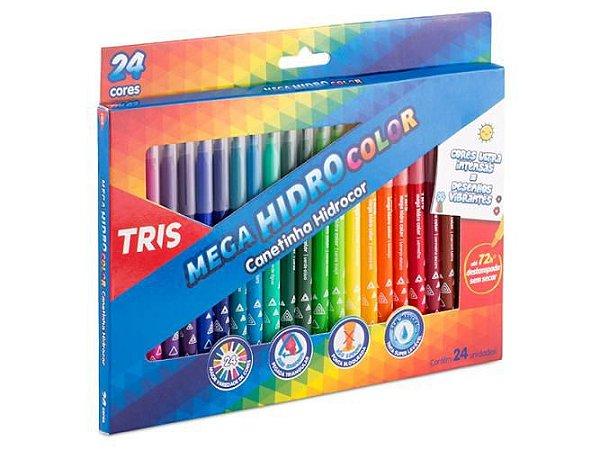 Canetinha Hidrocor Tris Color 24 Cores
