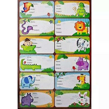 Etiquetas Adesiva Animais- Toke e Crie