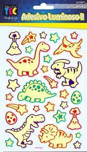 Adesivo Luminoso Dinossauros - Toke e Crie