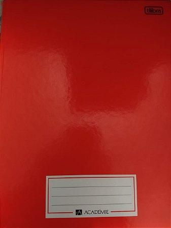 Caderno Brochurão Academie Universitário Vermelho 96f - Tilibra