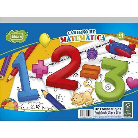 Caderno Cartilha Matemática Academie 32f - Tilibra
