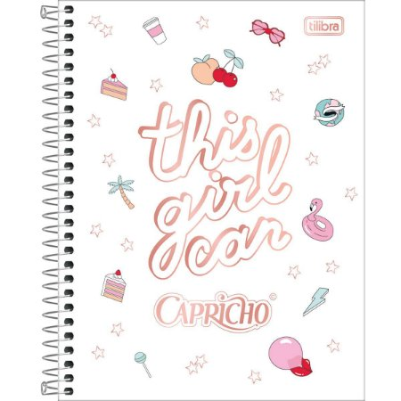 Caderno Colegial Capricho 10M - Tilibra