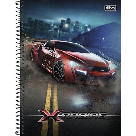 Caderno C/D Universitário X-Racing 12M - Tilibra